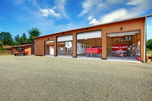 Fleet managers can buy custom designed garages to protect their fleet vehicles.